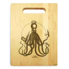 Choptipus 9x12 Personalized Chopping Board Handle Maple Wood