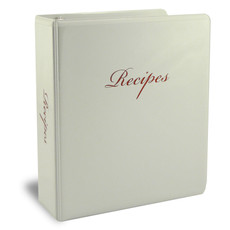 Half Page Family Recipe Binder Kit - White