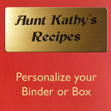 Personalize Recipe Box or Recipe Binder