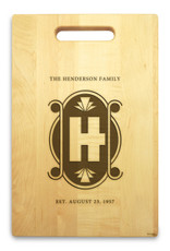 Art Deco 10x16 Handle Engraved Cutting Board