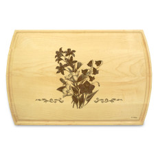 Bellflower 10x16 Grooved Engraved Cutting Board