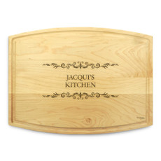 Classic Filigree 9x12 Grooved Maple Cutting Board