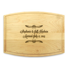 Forever After 9x12 Grooved Chopping Board