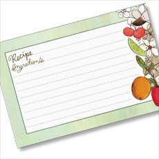 4x6 Fruit Fusions Recipe Card 40ea
