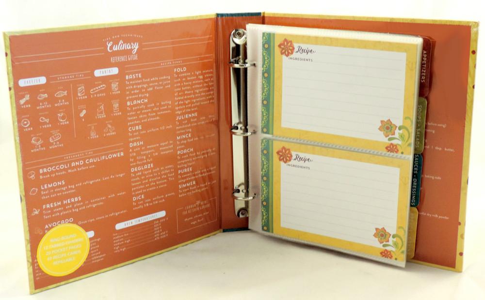 retro and functional 4x6 flower power recipe card binder cookbook album tunisian sunset