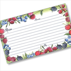 3x5 Berries & Cherries Recipe Card