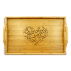 Hearts Wood TV Tray