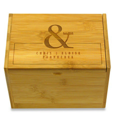 Ampersand Personalized 4x6 Recipe Box