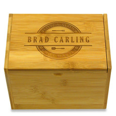 Grill Master BBQ 4x6 Personalized Recipe Box