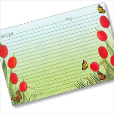 4x6 Tulips Recipe Card