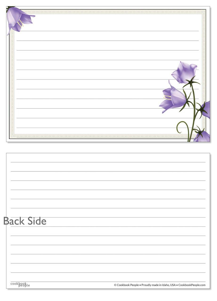 purple recipe cards
