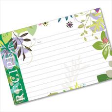 4x6 Recipe Card Jungle Boogie Green  40ea