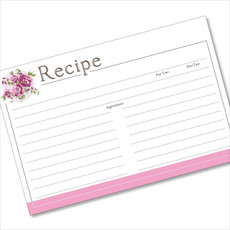 4x6 Recipe Card Corner Bouquet Purple 40ea