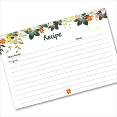 4x6 Recipe Card Hanging Gardens Dark Green 40ea