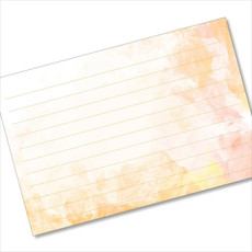 4x6 Recipe Card Terra Cotta Orange Index Card or  40ea