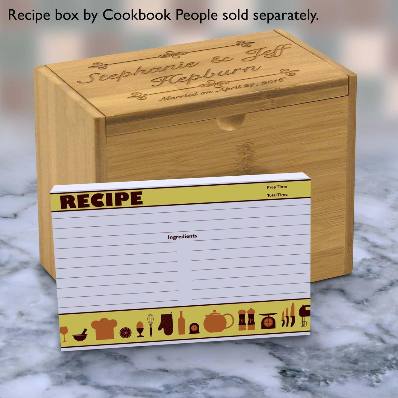 yellow recipe cards set  retro icon yellow order online