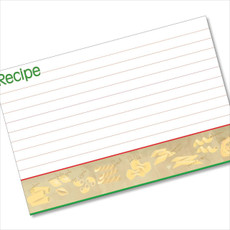 4x6 Recipe Card Pasta Italia Red and Green  40ea