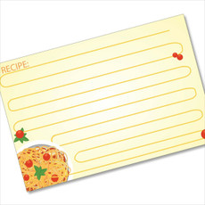 4x6 Recipe Card Spaghetti Lines Orange 40ea
