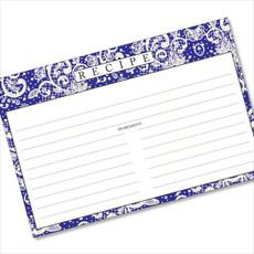 4x6 Recipe Card Lace Settings Midnight Blue 40ea