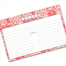 4x6 Recipe Card Lace Settings Pink Coral 40ea