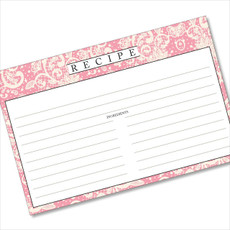 4x6 Recipe Card Lace Settings Light Pink 40ea
