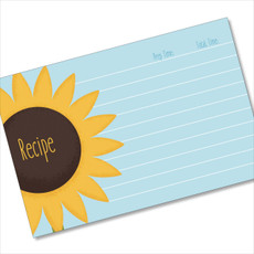 4x6 Recipe Card Single Sunflower  40ea