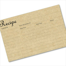 4x6 Recipe Card Not Cardboard but Looks Like It 40ea