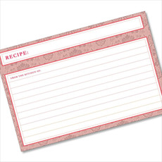 4x6 Recipe Card Agatha Pretty Pink 40ea