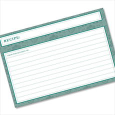 4x6 Recipe Card Agatha Teal Green 40ea