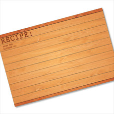 4x6 Recipe Card Woodwork Brown 40ea