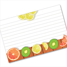 4x6 Recipe Card Lemon Kiwi Citrus 40ea