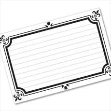 4x6 Recipe Card Formal Card Black and White  40ea