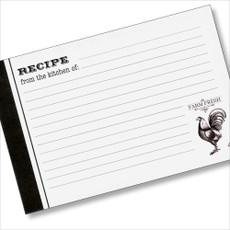 4x6 Recipe Card  -  Farm Fresh
