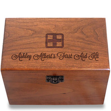 First Aid Personalized Cherry 4x6 Recipe Card Box