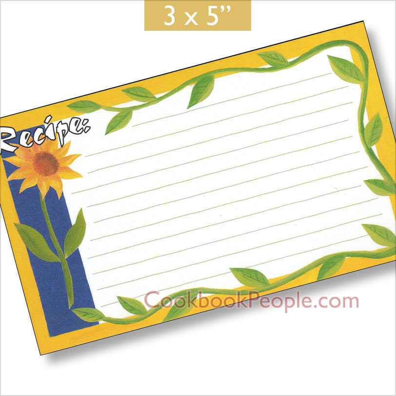 Heirloom 3x5 Yellow Recipe Card;Earth Friendly; Made In