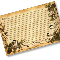4x6 Chickadees in the Pines Recipe Card