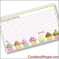 3 x 5 Why Not A Cupcake? Recipe Card