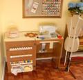Arrow 98500 Sewnatra Oak Sewing Machine Cabinet