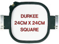 "Durkee Embroidery Double Height 24cm x 24cm (9""x9"") Square Frame Hoop with Brackets for Janome MB-4 Embroidery Machine"