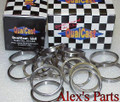 "VALVE SEATS, 1.562"" x 1.250"" x .219"" SB Chevy w/ 1.500"", SB Ford w/ 1.460"", Set of eight"