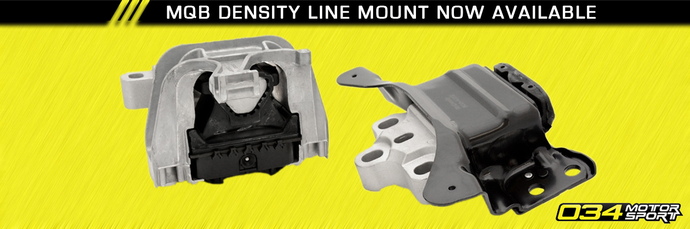 034 Motorsport MQB Density Line Engine Mount Set for VW MK7 & 8V A3