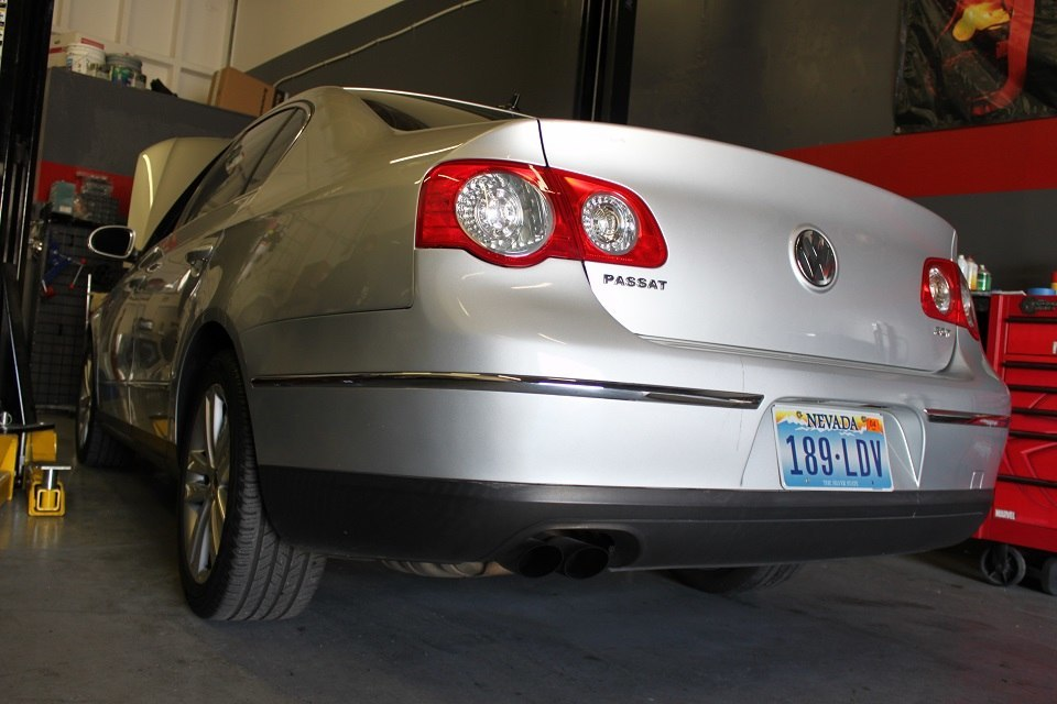 passat before exhaust