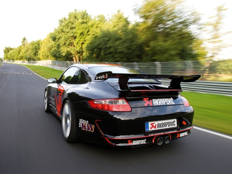911 997 akrapovic sports cup exhaust system for porsche 911 gt3 rs