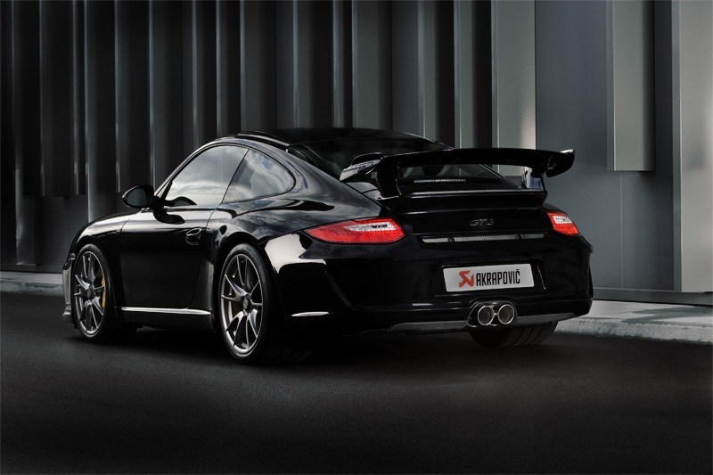 911 997 akrapovic slip on exhaust system for porsche 911 gt3 rs rs