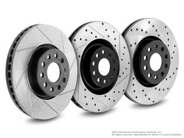 Neuspeed Slotted & Drilled Rear Rotors for TT 225HP & Jetta GLI & R32, 20th AE