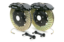 Brembo Front 4 Piston Calipers with 332x32 2-Piece Drilled or Slotted Rotors for B5