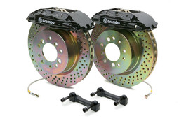 Brembo Front 4 Piston Calipers with 320x32 1-Piece Drilled or Slotted  Rotors for S4