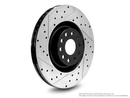 Neuspeed Slotted & Drilled Front Rotors for Passat, CC 4 Motion, R32, Golf R