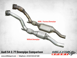 Milltek Downpipes w/ high flow 100 cell cats for B7 RS4