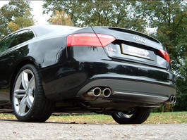 Milltek Resonated (Quieter) Cat-Back Exhaust System w/ Jet Tips for Audi B8 S5 4.2L